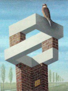 Uitkijktoren voor een valk (2007) door Jos de Mey, zie de column van april